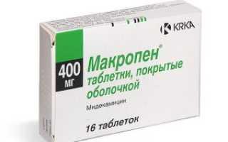 Макропен: фармакокинетика и лекарственное взаимодействие, способ применения и режим дозирования, заменители препарата