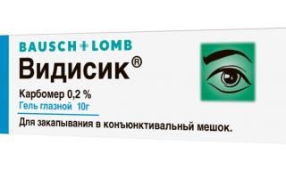 Видисик: инструкция по применению, механизм действия, взаимодействие с другими лекарствами, беременность и лактация, побочные действия, аналоги, цена и отзывы о глазном геле и каплях